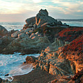 Ribera Beach Sunset Carmel California by Charlene Mitchell