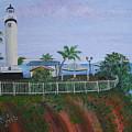 Rincon's Lighthouse by Gloria E Barreto-Rodriguez