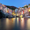 Riomaggiore After Sunset by Sebastian Wasek