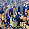 Rittenhouse Square Park And Philadelphia Skyline by Duncan Pearson