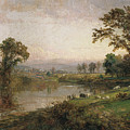 Riverscape In Early Autumn by Jasper Francis Cropsey