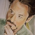 Robert Downey Jr Iron Man by Angela Schwengler