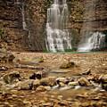 Rocks And Waterfalls by Iris Greenwell