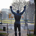 Rocky Statue From The Back by Bill Cannon