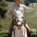Ronald Reagan On Horseback  by War Is Hell Store