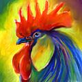Rooster Painting by Svetlana Novikova
