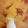 Rose In A Pitcher by Marsha Heiken