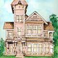 Rose Victorian Inn - Arroyo Grande Ca 1886 by Arline Wagner