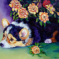 Roses - Pembroke Welsh Corgi by Lyn Cook