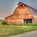 Ruddish Barn At Dawn by Douglas Barnett