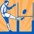 Rugby Goal Kick by Aloysius Patrimonio