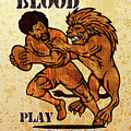 Rugby Player Running With Ball Attack By Lion by Aloysius Patrimonio