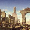 Ruins Of The Mosque Of The Caliph El Haken In Cairo by Prosper Georges Antoine Marilhat