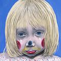 Sad Little Girl Clown by Patty Vicknair