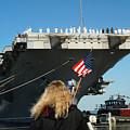 Sailors Aboard Aircraft Carrier Uss by Stocktrek Images