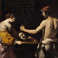Salome Receiving The Head Of St John The Baptist by Giovanni Francesco Barbieri