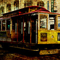 San Francisco Cable Car . Texture by Wingsdomain Art and Photography