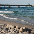 Sand Castles And Piers by Rob Hans