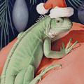 Santa Claws - Bob The Lizard by Amy S Turner