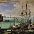 Scene Of A Sea Port by Paul Bril