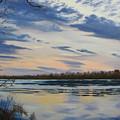 Scenic Overlook - Delaware River by Lea Novak