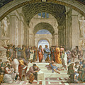 School Of Athens From The Stanza Della Segnatura by Raphael