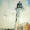 Scituate Light by P Anthony Visco