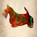 Scottish Terrier Watercolor 2 by Naxart Studio