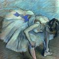 Seated Dancer by Edgar Degas