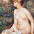 Seated Female Nude by Renoir