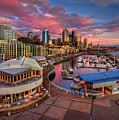 Seattle Waterfront At Sunset by Photo by David R irons Jr