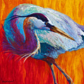 Second Glance - Great Blue Heron by Marion Rose