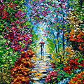 Secret Garden Oil Painting - B. Sasik by Beata Sasik