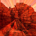 Sedona Sunset Energy - Abstract Art Print by Carol Groenen