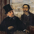 Self Portrait With Evariste De Valernes by Edgar Degas