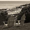 Sepia Seaside Retreat by Lone  Dakota Photography
