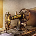 Sewing - A Black And White Sewing Machine  by Mike Savad