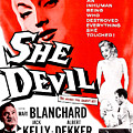 She Devil, Blonde Woman Featured by Everett