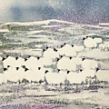 Sheep In Winter by Suzi Kennett