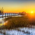 Shem Creek Sunset - Charleston Sc  by Drew Castelhano