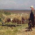 Shepherdess by Anton Mauve