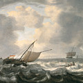 Ships On A Choppy Sea by Hendrik van Anthonissen