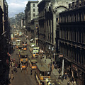 Shoppers And Trams Clog Renfield Street by B. Anthony Stewart