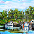 Shrimping Boats by Dianne Parks