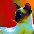 Siamese Cat 10 Painting by Svetlana Novikova