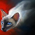 Siamese Cat 7 Painting by Svetlana Novikova