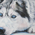 Siberian Husky Up Close by Lee Ann Shepard