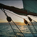 Sicily Sunset Sailing Solwaymaid by Dustin K Ryan
