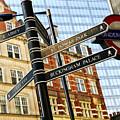 Signpost In London by Elena Elisseeva