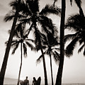 Silhouetted Surfers - Sep by Dana Edmunds - Printscapes